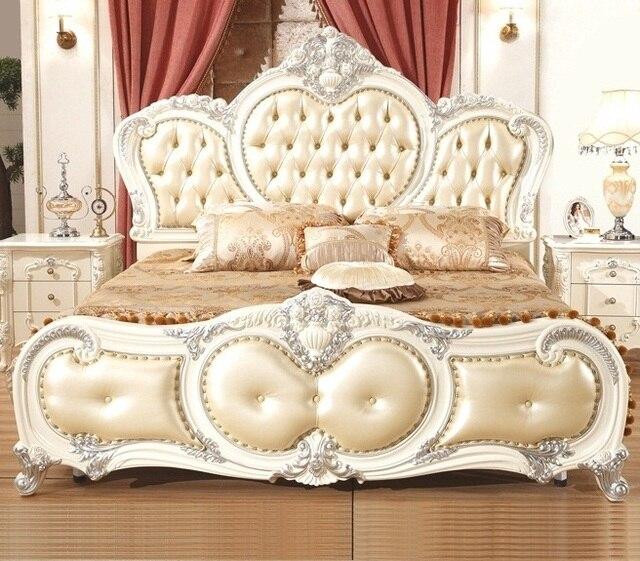 Home Furniture Queen Size Beds 1.8 Meter Bedroom Sets Wooden Furniture  European U0026 Modern Style