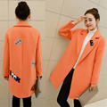 Women's Winter Jackets and Coats Thicken Single Button Elegant Warm Women Coat Jacket Women Woolen Coat Large size