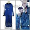 Envío libre KAIJO escuela superior de baloncesto Azul deporte traje de kuroko no basket Kise Ryota cosplay incluyendo chaqueta y pantalones