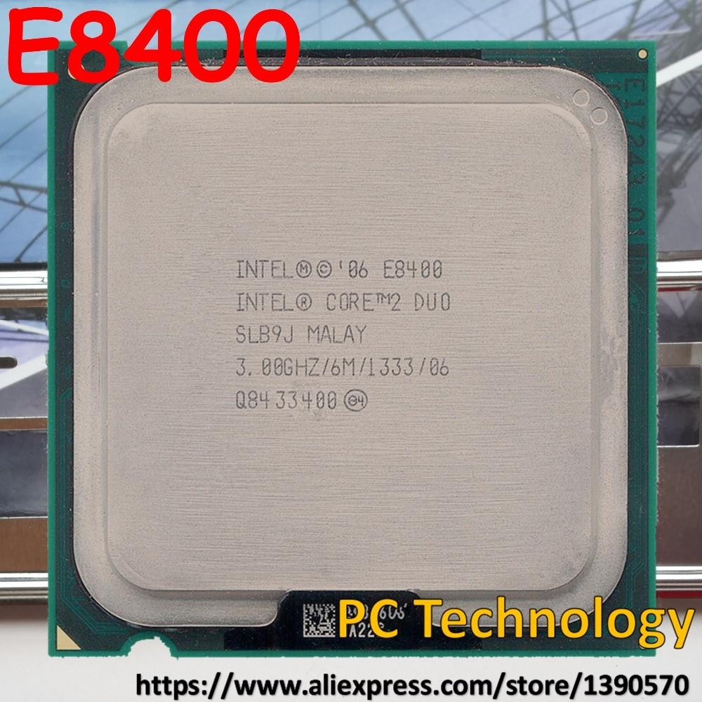 Процессор Intel Original Core 2 Duo e8400 Процессор Processor 3.00 ГГц 6 м гнездо 775 Бесплатная Доставка в течение 1 дня