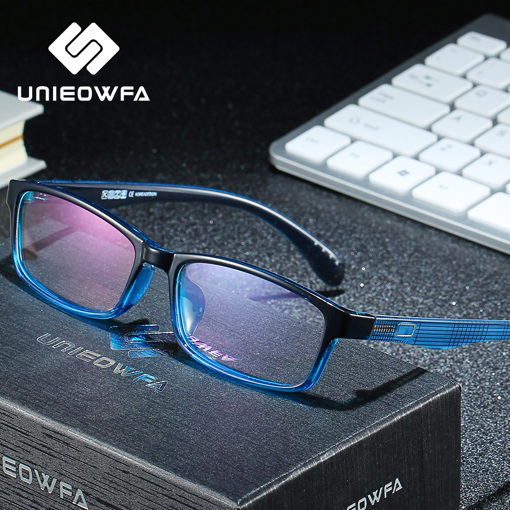 UNIEOWFA TR90 Progressive Prescription Glasses Women Anti Blue Light Optical Eyewear Men Photocromic Myopia Hyperopia Eyeglasses