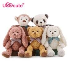 Kawaii Fyllda plysch djur barn leksaker för barn flicka leksaker gåvor Panda / apa / björn / kanin brinquedos dockor baby barn leksak 32cm