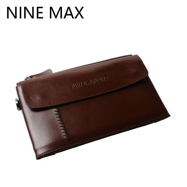 Fashion Feidika Polo Genuine Leather Men Clutch Bags Card Holder Pocket Male Long Purse High Quality Business Utility Wallet