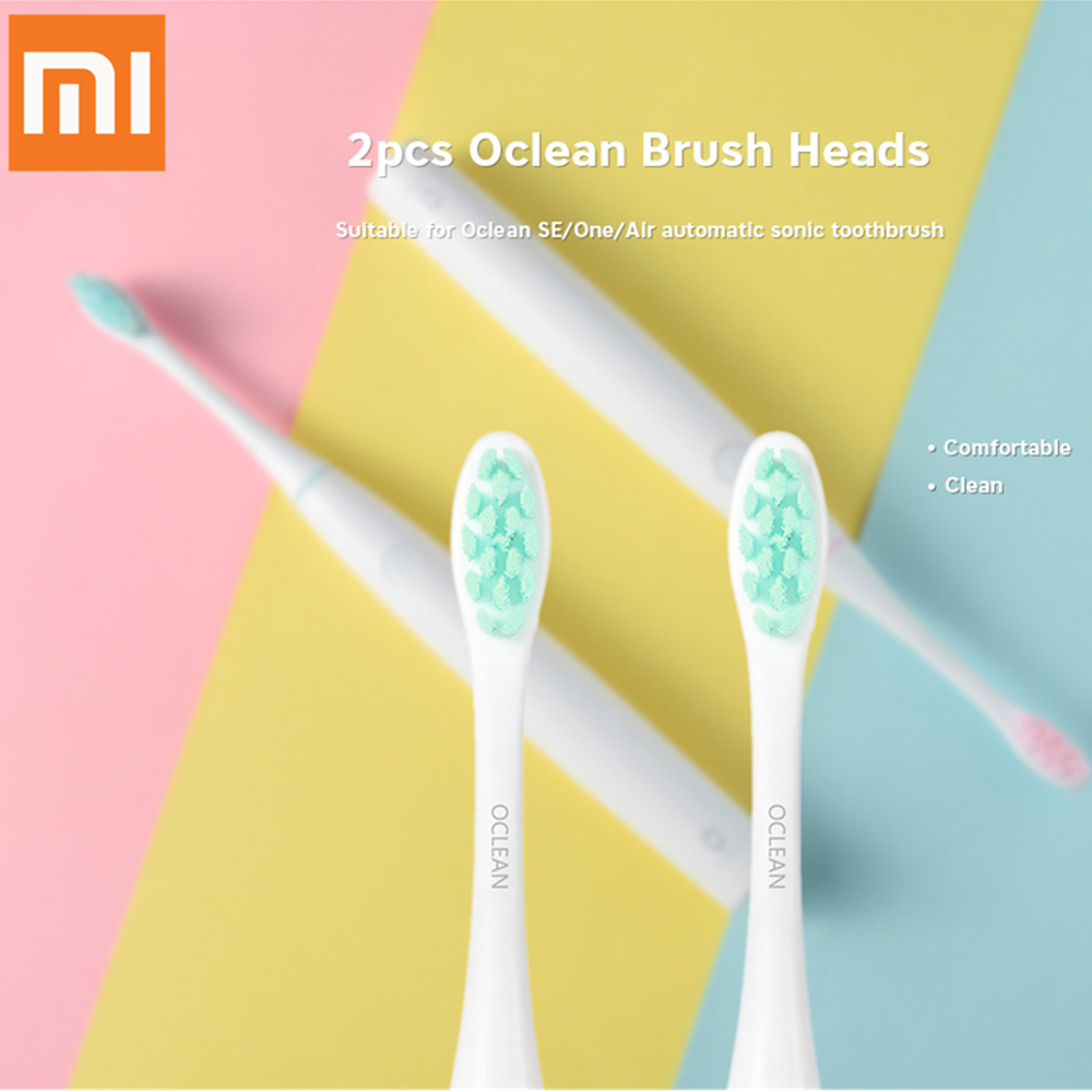Xiaomi 2pcs Oclean SE / One / Air Replacement Brush Heads For Automatic Electric Sonic Toothbrush Deep Cleaning Tooth Brush Head цена и фото