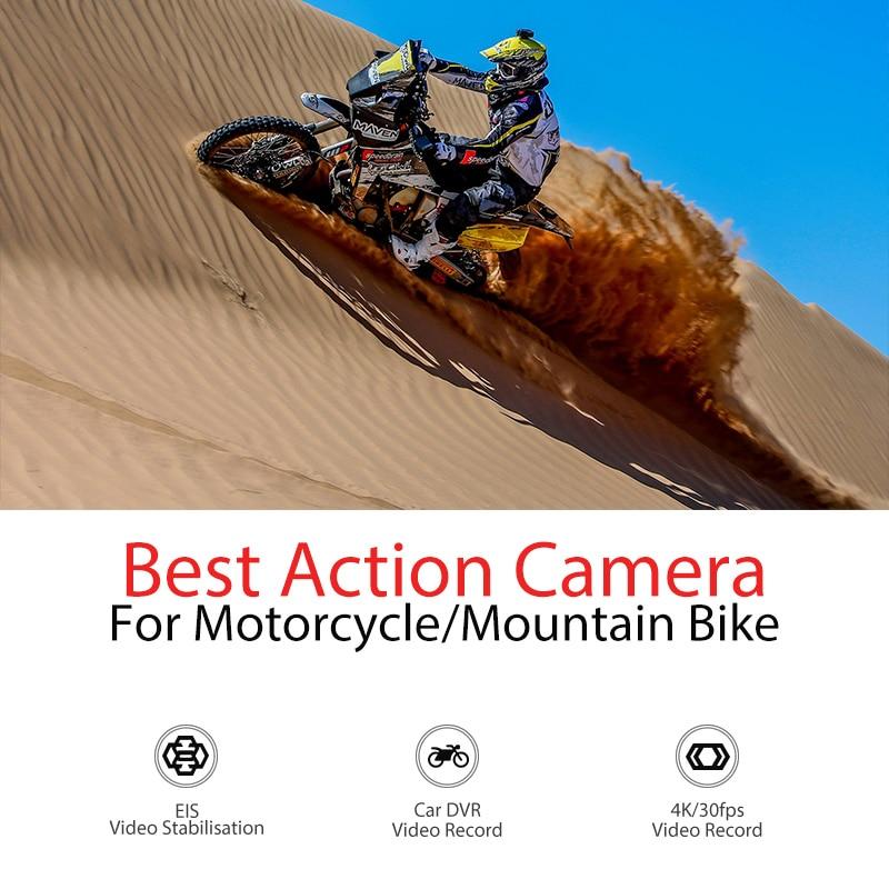 Спортивная Экшн-камера Drift Ghost 4K с креплением на шлем для мотоцикла и велосипеда с сенсорным ЖК-экраном и Bluetooth