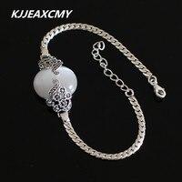 KJJEAXCMY S925 Pure Silver Jewelry Wholesale Exquisite Retro Female Cat Eye Bracelet