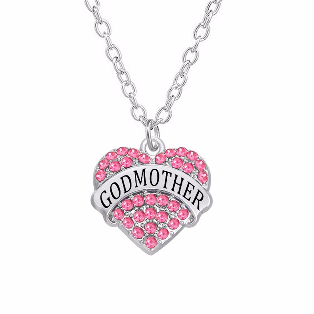 Cousin chain cousin necklace cousin charm necklace Crystal Heart European style