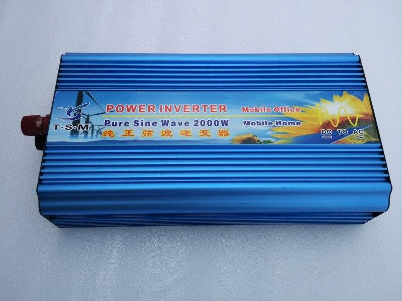 2000W Pure Converter  12/24/48v to 100/110/220/230/240V Off Grid Pure Sine wave Solar Inverter 2000W dc power inverter maylar 22 60vdc 300w dc to ac solar grid tie power inverter output 90 260vac 50hz 60hz