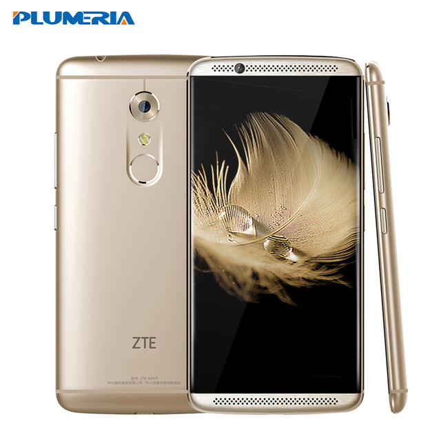 "New Original ZTE Axon 7 cell Phone 4 RAM 128G ROM Snapdragon 820 5.5"" 2560X1440 20.0MP Force Touch NFC 4G LTE Fingerprint"