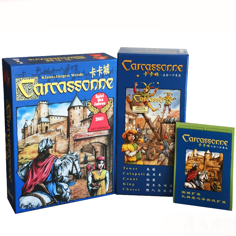 Carcassonne/ 5 In 1 / 2 In 1 Expand Board Game 2-5 Players For Family/Party/Gift Best Gift Funny Tile-placement Game