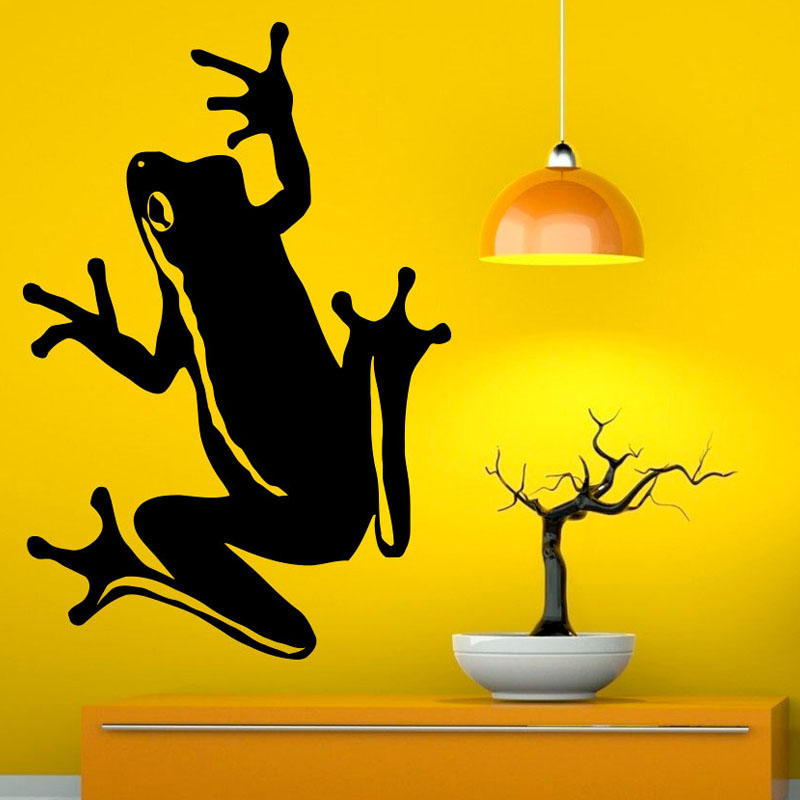 ᐃDCTOP Animal Frogs Wall Decals Removable Vinyl Wall Art Sticker ...