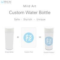 שחור לבן מבודדת בקבוק מים 300 ml פלסטיק מותאם אישית הדפסת אמנות תפאורה ייחודית ומתנות BPA ילדים חינם שתייה אישית s