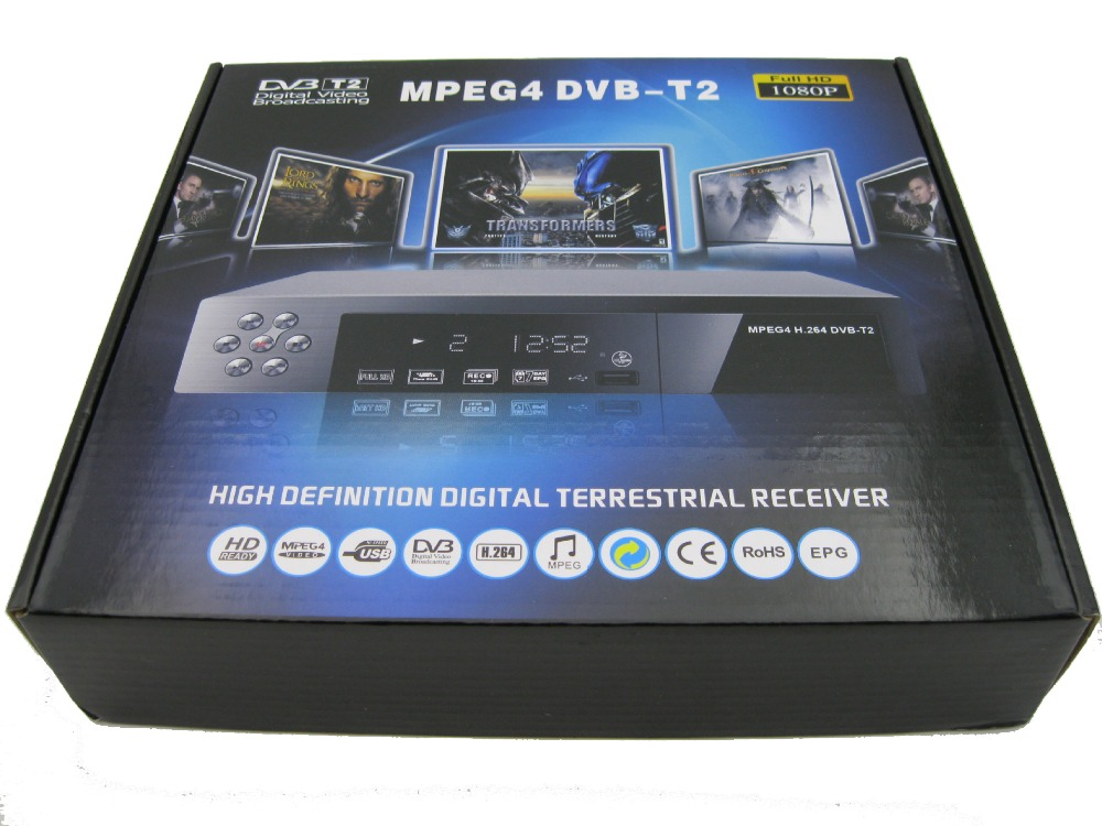 HD Digital terrestrial receiver DVB-T2 PVR TV Receiver SET TOP BOX STB with USB HDMI Interface,DVB-T2 Tuner, MPEG4 / H.264 телеприставка qhisp iptv dvb t2 mpeg4 hd 40 car dvb t2