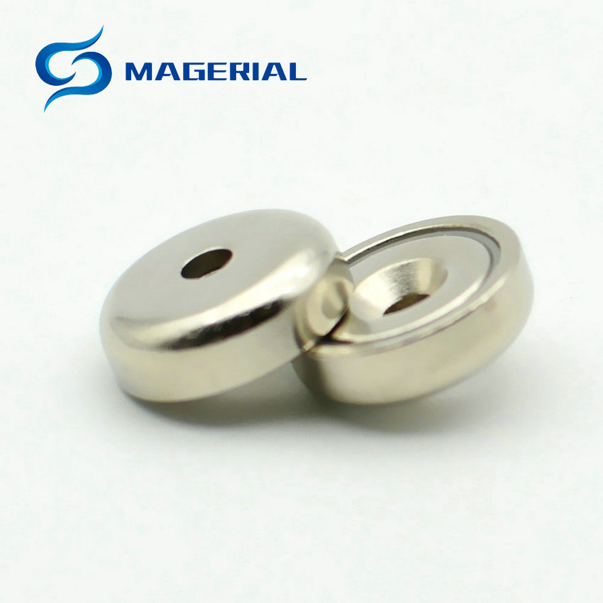 1 Pack Mounting Magnet Diameter 16-75 mm Clamping Pot Magnet with Countersunk Hole Strong Neodymium Permanent Holding Magnet 1 pack mounting magnet diameter 12 mm clamping pot magnet with steel hook neodymium lifting magnet strong magnet lathed cup