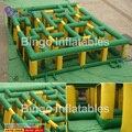 Juguetes juegos inflables gigantes de PVC 11 M laberinto inflable para los niños