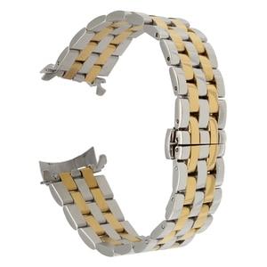 Image 4 - 18mm 20mm 22mm 24mm Rvs Horloge Band Gebogen Einde Strap voor Frederique Constante Horlogeband Vlinder gesp Armband