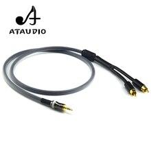 ATAUDIO Hifi стерео мм 3,5 мм до 2rca кабель Высокое качество 6N OFC мм 3,5 мм Джек 2 RCA Мужской кабель