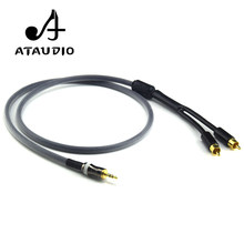 ATAUDIO Hifi Stereo 3,5mm rca Kabel Hohe Qualität 6N OFC 3,5mm Jack auf 2 Cinch-stecker Kabel(China)