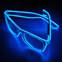 Flashing EL wire Led Glasses Luminous Party Christmas Halloween Lighting Colorful Glowing Gift For Dj Bright Light Decoration