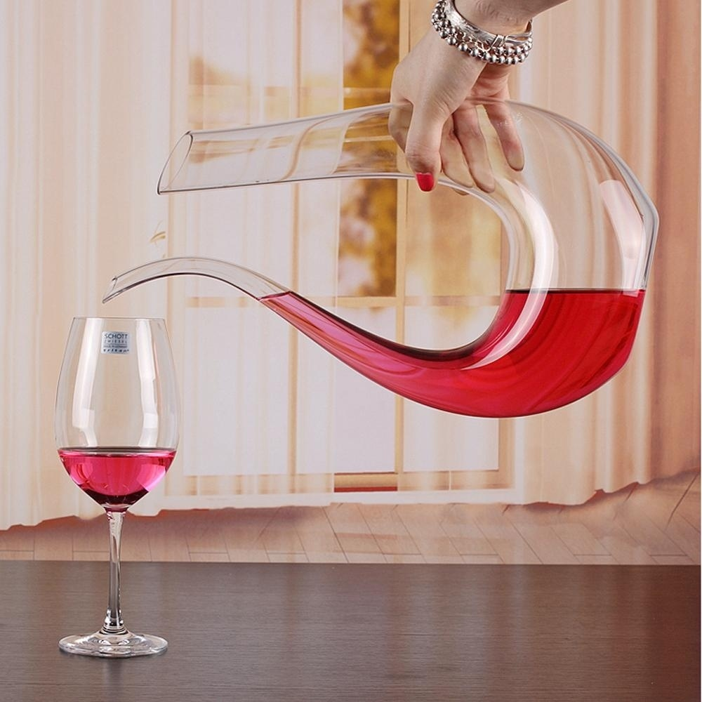 750ml wine decanter crystal glass u shaped horn wine for Decor 750ml