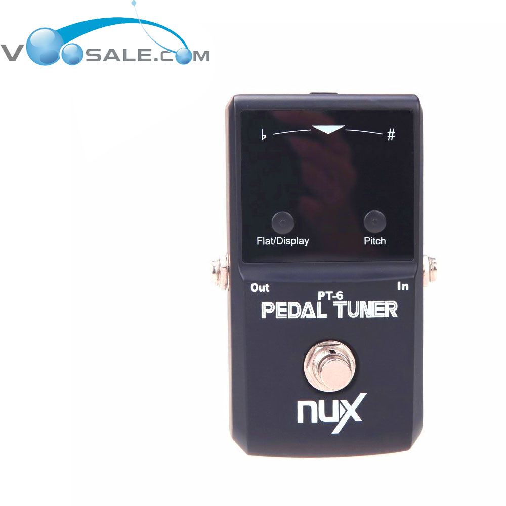 цена на NUX PT-6 Guitar Pedal Tuner Chromatic Tuning Mode True Bypass Circuit Allows Tuning LED Display