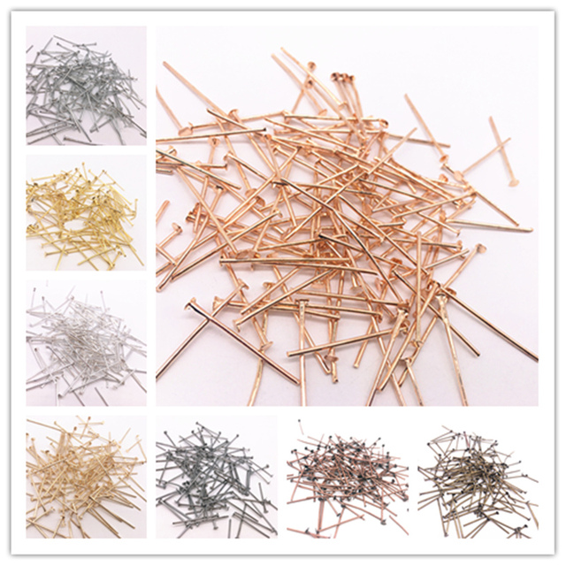Wholesale all kind of Tone Connectors 16/20/22/30mm Gold Silver Bronze Gun black Head Pins DIY Jewelry Making