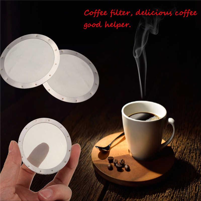 Grande venda! Filtro lavável reusável de aço inoxidável da tela de café da malha do sólido para o filtro reusável do fabricante de café do aeropress