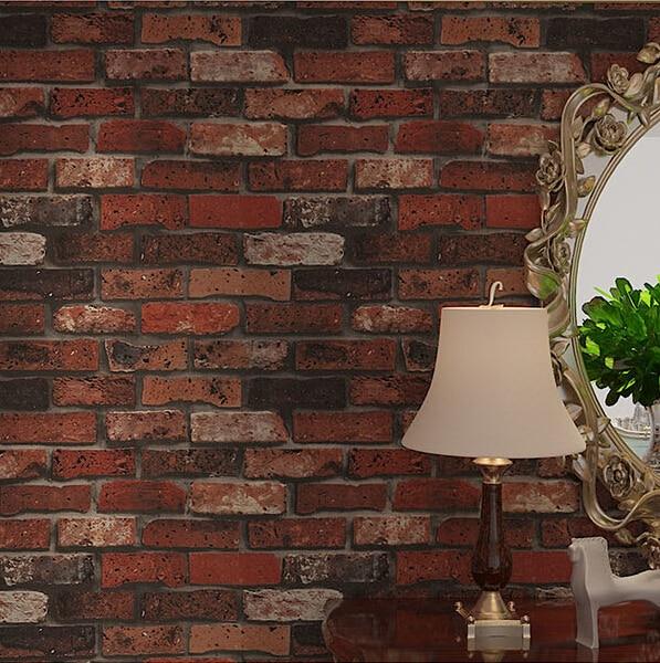 Black Brick Wallpaper Deep Embossed 3d Brick Wall Paper Modern Vintage Brick