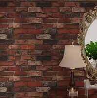Deep Embossed 3D Brick Wall Paper Modern Vintage Brick Stone Pattern Wallpaper Roll For Living Room