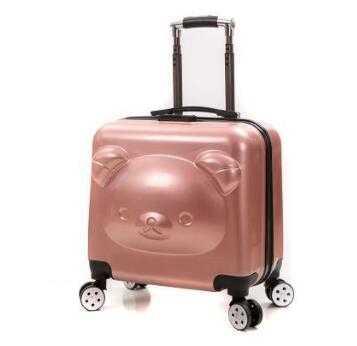 fd2a368270334 20 inç bagaj Bavul tekerlekler üzerinde Ayı Seyahat Arabası spinner bavul  tekerlekli çanta Çocuk tekerlekli kabin