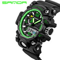 2016 New SANDA Men's Watch Men Waterproof Sports Digital Watches S-Shock Men's Analog Quartz Watches Reloj Hombre Relogio