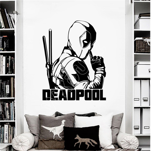 WXDUUZ Deadpool Marvel Superhero Childrenu0027s Decal Wall Art Sticker/Decal Wall Sticker Home Decor Wall  sc 1 st  AliExpress.com & WXDUUZ Deadpool Marvel Superhero Childrenu0027s Decal Wall Art Sticker ...