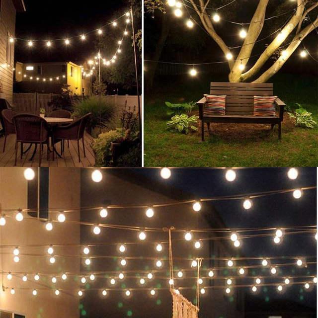 Szvfun Outdoor Lighting Solar Light 6m 30 Led String Lights Ball Crystal Festoon Bulb For Christmas Garden Decorations