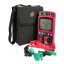 고전압 절연 시험기 휴대용 lcd 디지털 절연 저항 측정기 600 v dc/ac 전압 테스터 자동 방전 도구