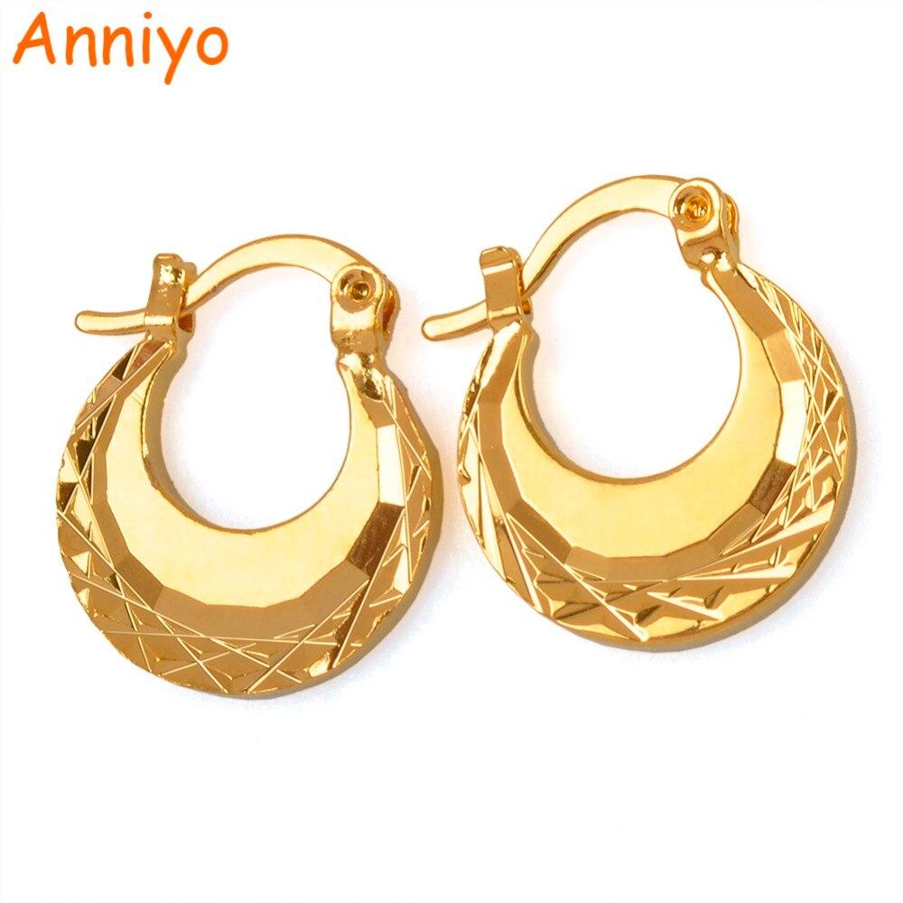 Anniyo (Width 1.5CM/1.1CM) Kids Earrings Gold Color SMALL Earring ...