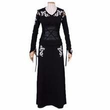 2018 Bellatrix LeStrange siyah Cosplay Kostüm