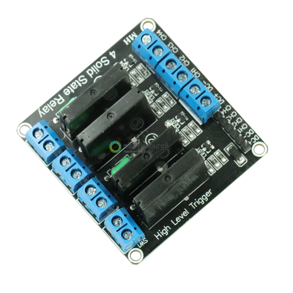 DC 5 V 4 CH 4CH four 4 channels <font><b>OMRON</b></font> <font><b>SSR</b></font> <font><b>G3MB</b></font>-<font><b>202P</b></font> semiconductor relay module with a resistive fuse board for Arduino 240 V low image
