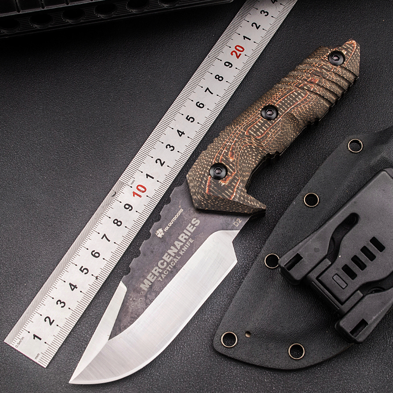 HX OUTDOORS warrior high hardness tactical straight D2 blade knife field survival knife outdoor spacesick-ness collection knives airsoft adults cs field game skeleton warrior skull paintball mask