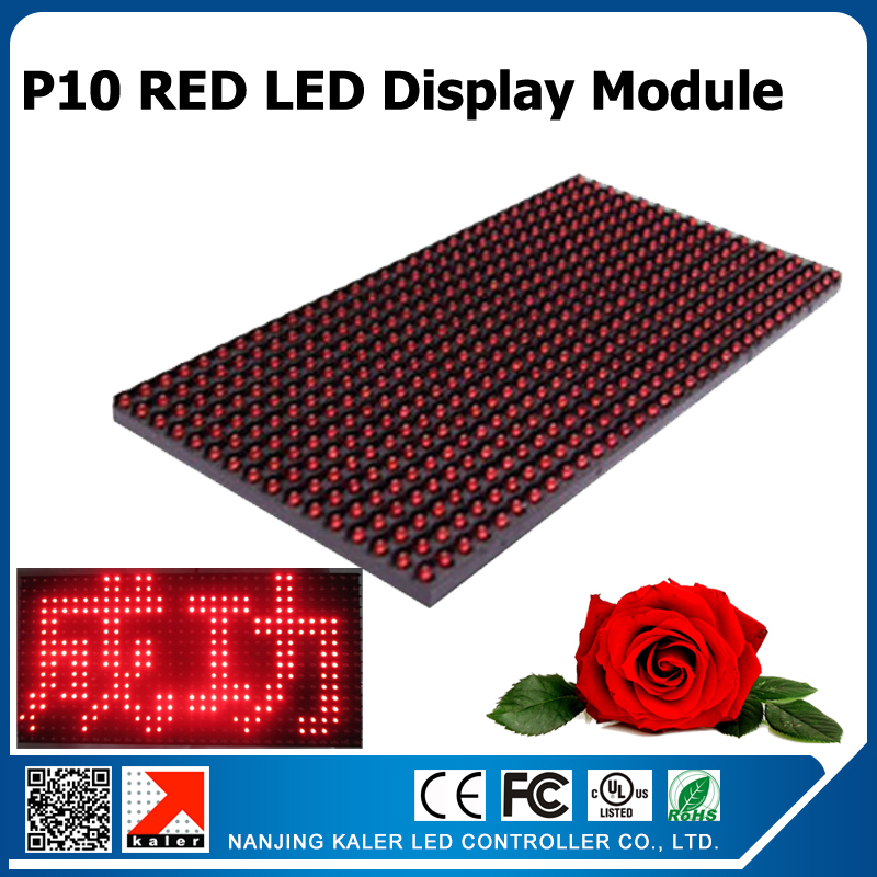 10pcs A Lot Indoor Semi-outdoor Red Color Led Display Module 320x160mm 10mm Pixel  P10 Led Panel