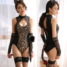 Women Sexy Bodysuit Lingerie Hot Erotic Cat Girl Cosplay Costume Porno Underwear Babydoll Teddy