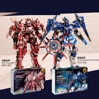 Piececool 3D Metal Puzzle Red Thunder Edition Knight Armor Model Kits P085 RSK DIY 3D Laser