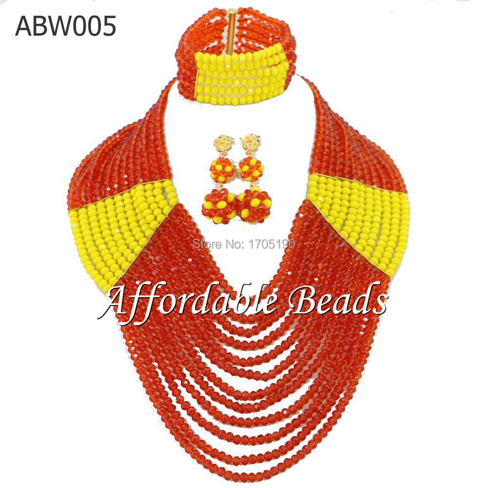 Marvelous African Beads Jewelry Set New Arrival Costume Jewelry Set Free Shipping ABW005