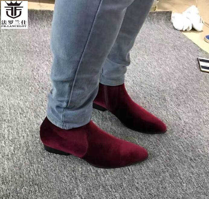 FR.LANCELOT Winter Ankle Boots High Quality Martin boot Vintage British Style Men Short Boots fashion casual men's boots martin new winter with thick british style short canister female fall side zipper boots