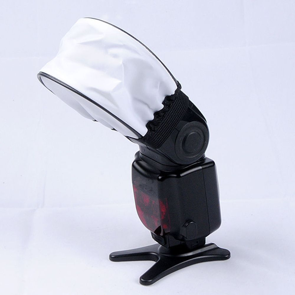 Universal Soft Camera Flash Diffuser Portable Cloth Softbox For Speedlight Reflective Cover For Canon Nikon Flash Accessories
