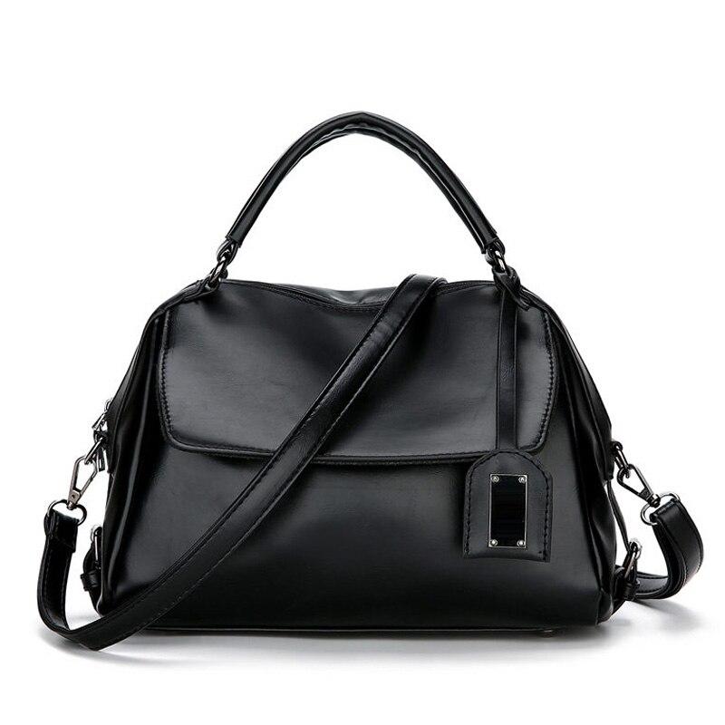 Boston Handbag Women Shoulder Bags Female Designer PU Leather Tote Bag Vintage Sequined Bags Ladies Totes