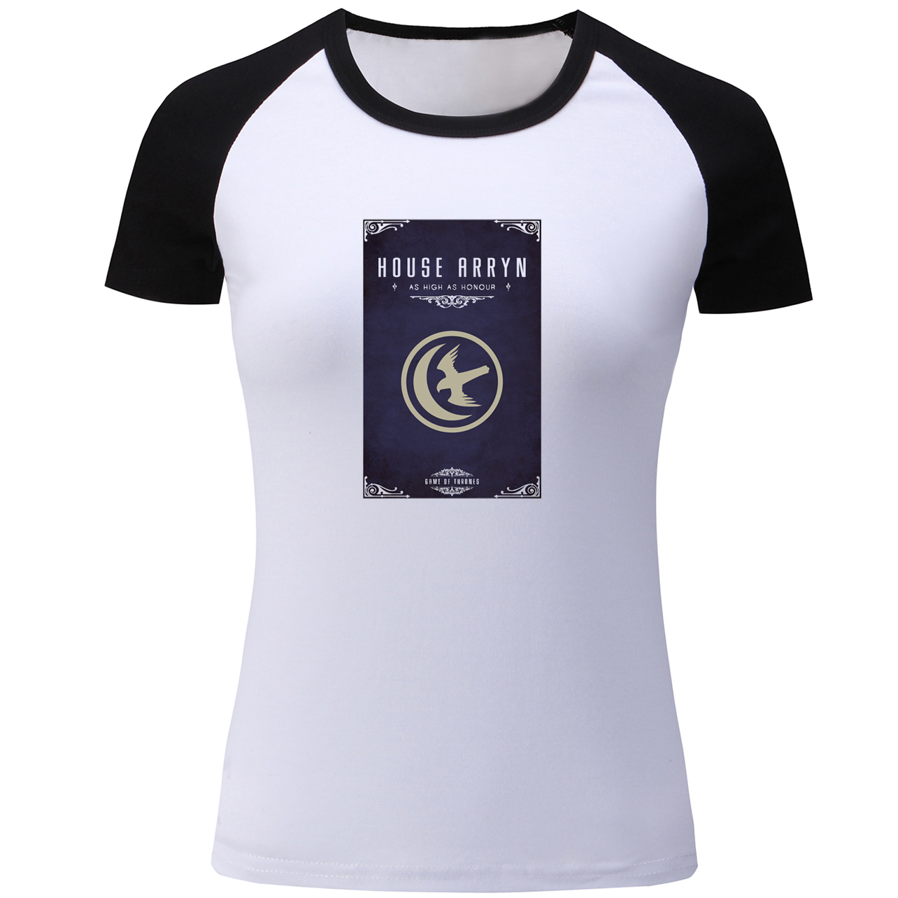 db658e7b US $9.17 46% OFF|Game of Thrones House Arryn of the Eyrie As High as Honor  Symbol T Shirt Women Patchwork Short Girls Tshirt Holiday T shirt Tops-in  ...