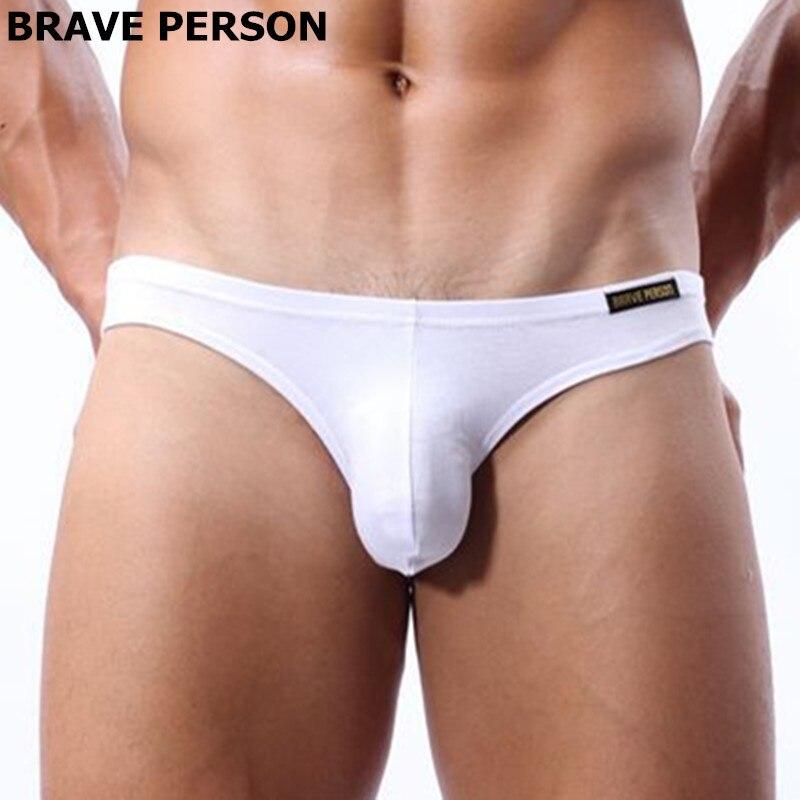 Brave Person Underwear Sexy Men Bulge Mens Briefs Penis Pouch Modal Seamless Sexy Mens Under Wear Low Waist Gay Panties Slip