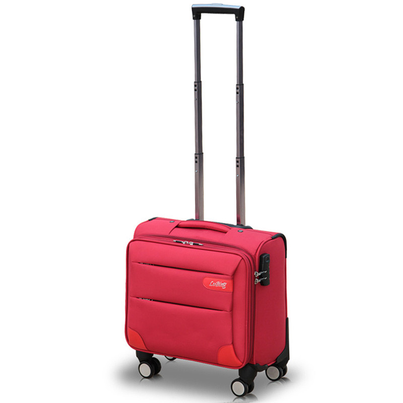 14 pouces mini embarquement roues universelles chariot bagages commercial oxford tissu bagage femelle