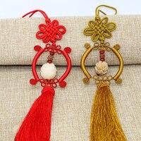 Kırmızı Çin düğüm FENG SHUI Bodhi Şanslı Charm Antik I CHING Paraları Refah Koruma Iyi Servet Ev