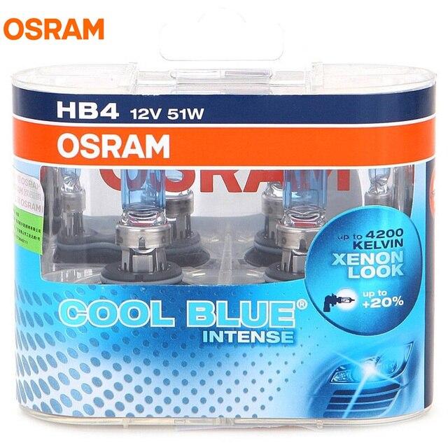 OSRAM 9006 HB4 12V 51W 4200K 9006CBI COOL BLUE INTENSE Bluish White Halogen Bulb Car Light 20 More Xenon Stylish Look